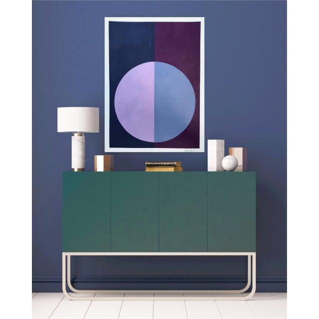 """""""Indigo & Violet Forever"""" Acrylic Painting - Image 4 of 5"""
