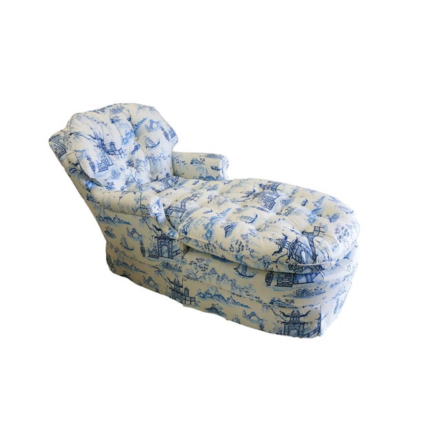 Chintz Chinoiserie Upholstered Lounge Chair - Image 1 of 5