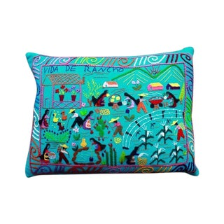 Blue Trabajo en El Campo Pillow Cover