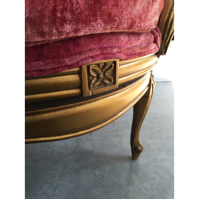 Image of Vintage Italian Rococo Louis XVI Gilt Chair