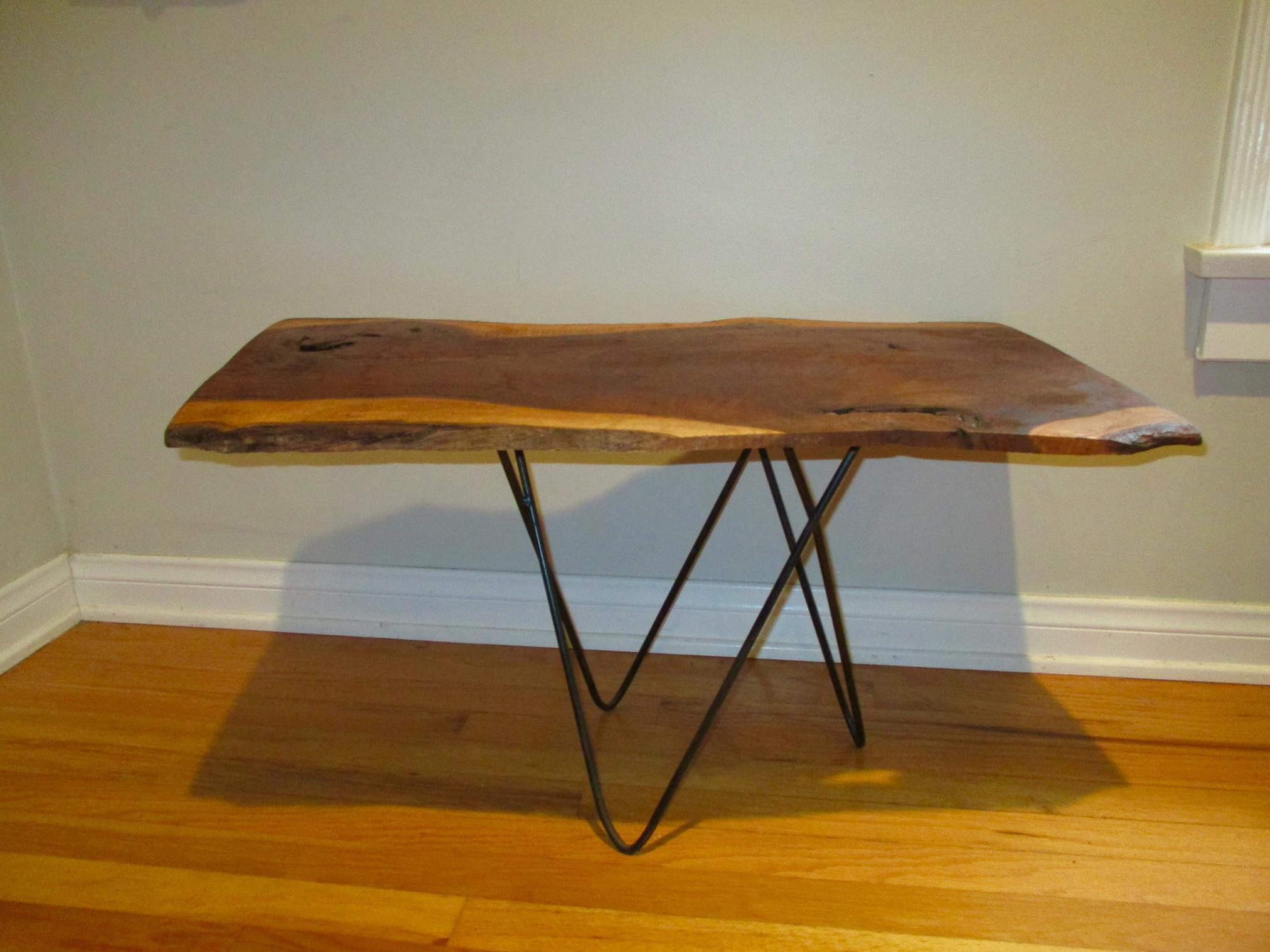 Live Raw Edge Slab Wood Coffee Table Chairish