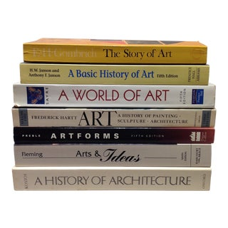 Stack of Art Textbooks - Set of 7
