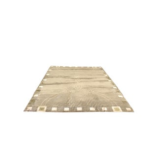 Lucien Rollin Collection Art Deco Wool and Silk Rug - 6' x 9'