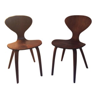 Mid-Century Modern Accent Chairs - Pair