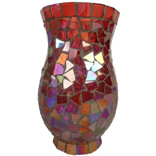 Mosaic Covered Glass Vase