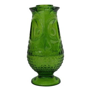 Viking Glass Owl Candle Holder