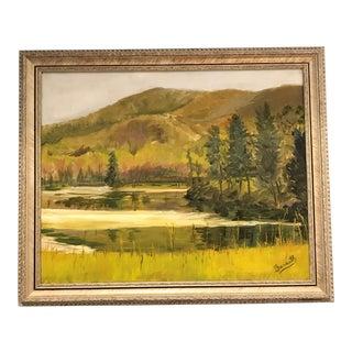 'Douthet Lake' Plein Air Painting
