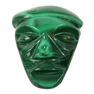 Mid-Century Malachite Head Sculpture