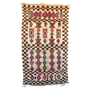 "Vintage Ourika Moroccan Berber Rug - 5'3"" X 8'9"""