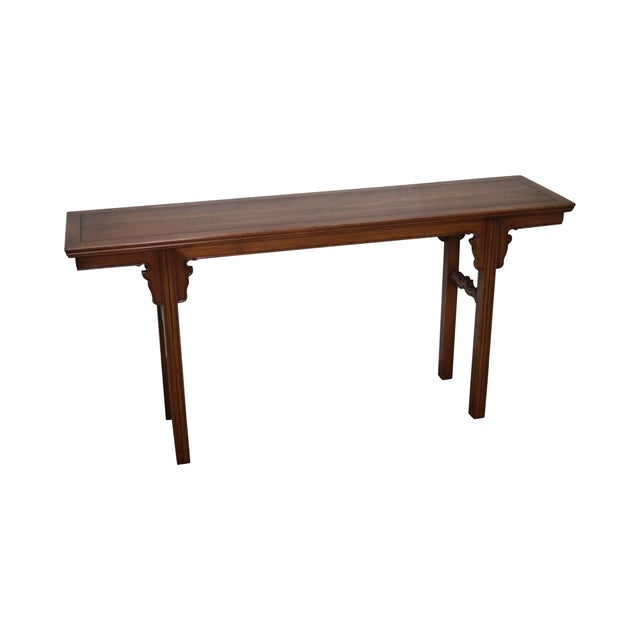 Japanese Style Console Table ~ Vintage asian style walnut console table by fine arts