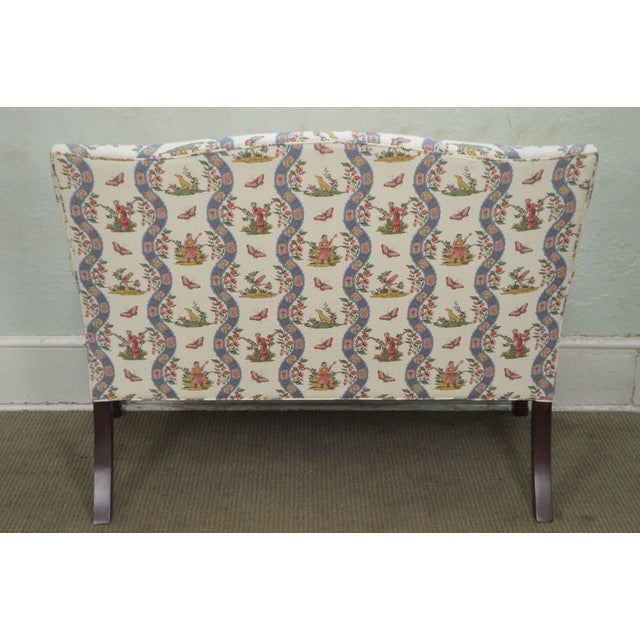 Custom Quality Chippendale Style Loveseat - Image 9 of 10