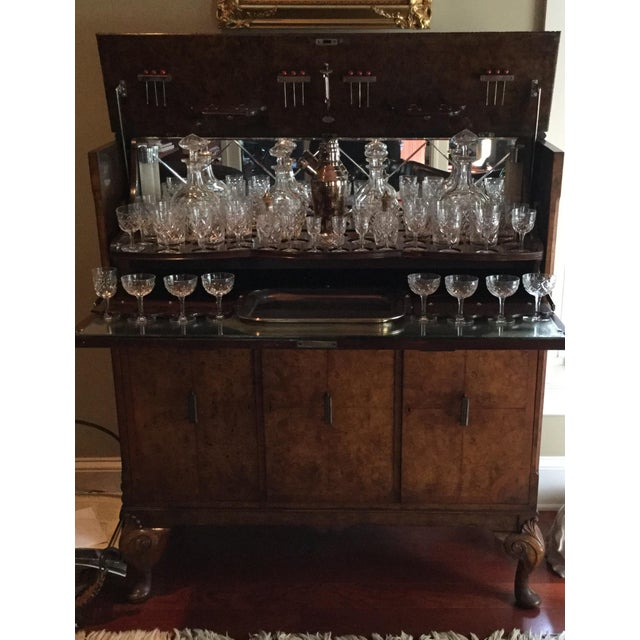Image of Lift Top Bar Cabinet & Crystal Collection - Set of 69
