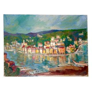 Beautiful Original European Seaside Painting