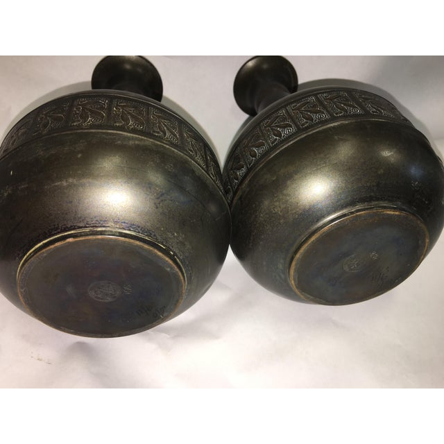 Vintage Tiel Copper Vases - A Pair - Image 5 of 10