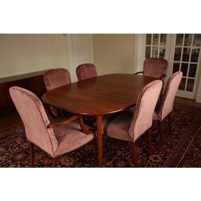 Vintage Upholstered Kittinger Dining Chairs - Set of 6 - Modernized & Updated - Image 8 of 9