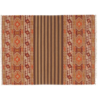 Leon Banilivi Navajo-Style Kilim - 5′8″ × 7′9″