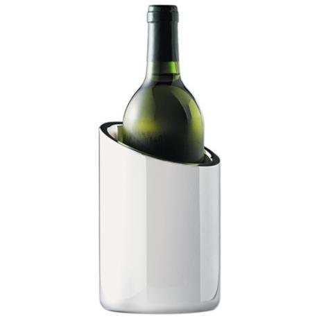 Silver Tilted Wine Chiller - Image 1 of 5