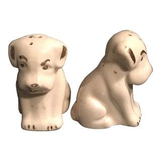 Vintage Dog Salt & Pepper Shakers - Set of 2