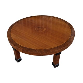 Vintage Asian Style Round Coffee Table