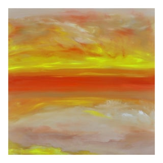 """SunDream (#4 in Series)"" Original Abstract Landscape Painting"