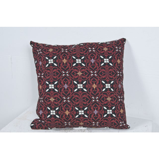 Red Outdoor Throw Pillow - Image 3 of 3