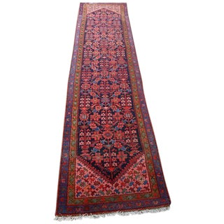 Semi-Antique Persian Malayer Runner - 3' x 13'3""