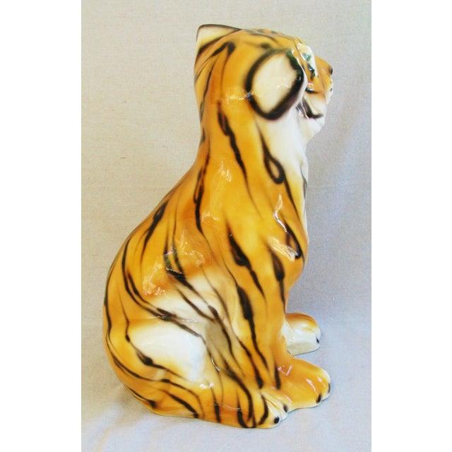 Large Mid-Century Porcelain Italian Tiger - Image 7 of 11