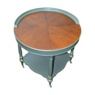 Grey Antique Round Table