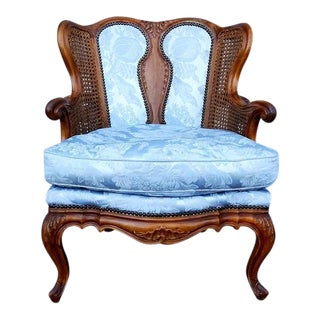 Antique French Louis XVI Style Rococo Fauteuil Chair