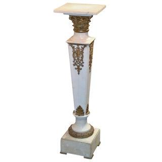 Continental Marble & Bronze Pedestal