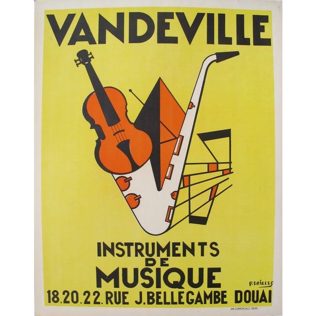 P. Dailles 1950s Vandeville Art Deco Music Poster - Image 1 of 3