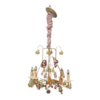 French Crystal Fruit Chandelier