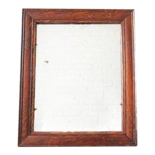 Vintage Oak Shaving Mirror