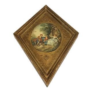 Italian Diamond Tole & Wood Picture
