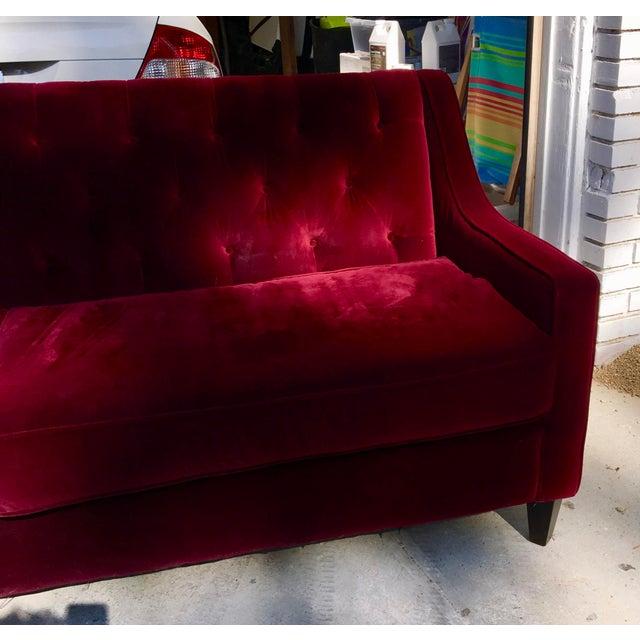 Hollywood Regency Style Velvet Sofa - Image 7 of 11