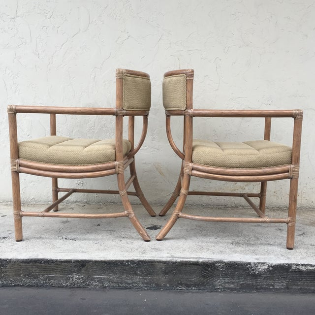 McGuire Manhattan Chairs - Set of 4 - Image 6 of 10