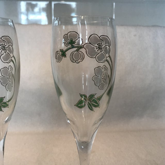 Perrier Jouet Champagne Flutes- A Pair - Image 9 of 10