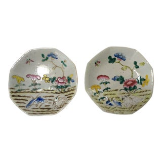 C. 1800's Chinese Decorative Plates - A Pair