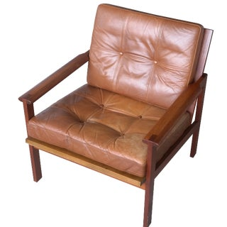 "Illum Wikkelsø ""Capella"" Teak Easy Chair"