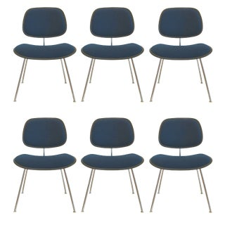 Herman Miller Eames DCM Upholstered Chairs - Set of 6