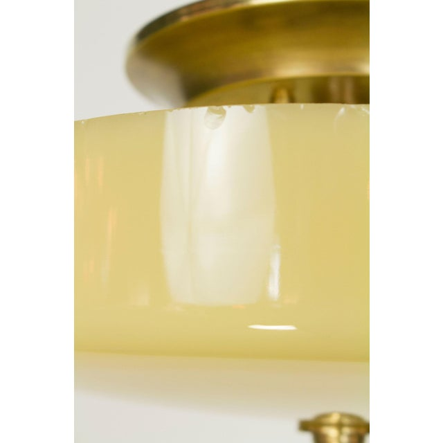 Image of Custard Glass Semi Flush Fixture