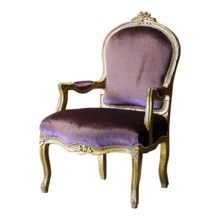 Victorian French Style Upholstered Armchair