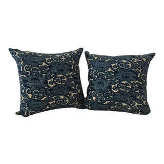 "Ralph Lauren Navy ""Augustine"" Floral Pillows- A Pair"