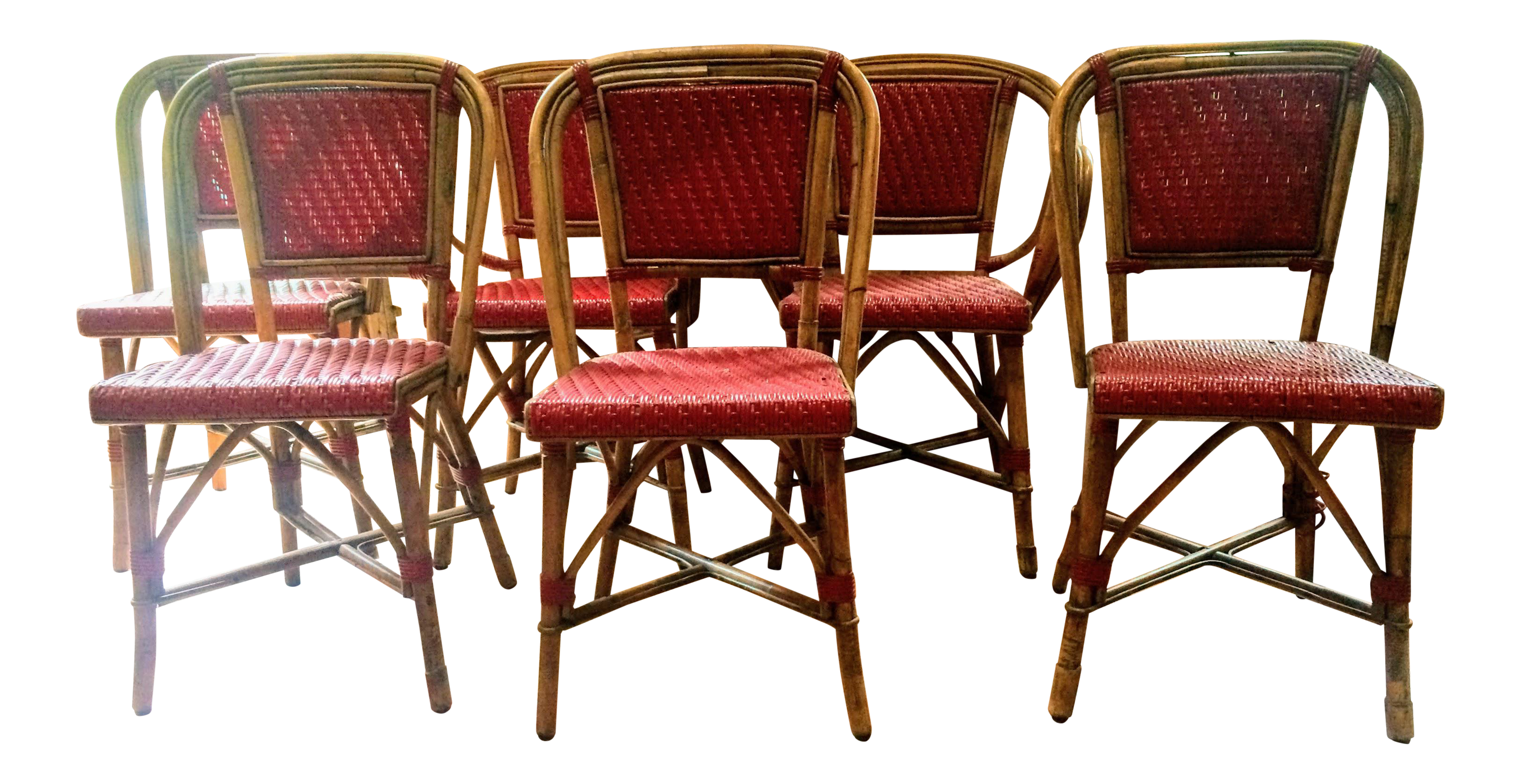 vintage woven french bistro chairs set of 6