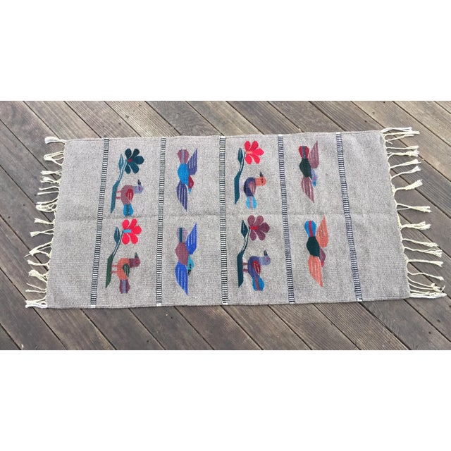 """Mexican Gray Wool Rug - 2'6"""" X 4'11"""" - Image 2 of 7"""