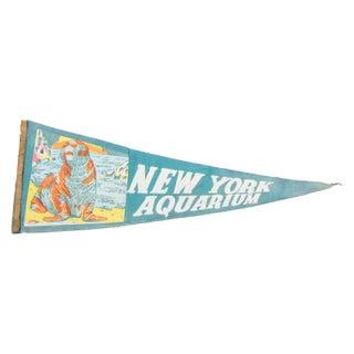 Vintage New York Aquarium Felt Flag Banner