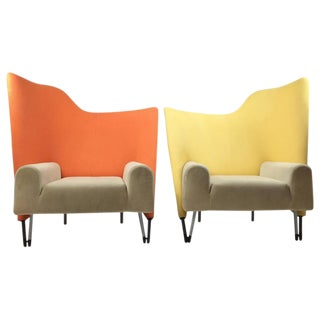 Paolo Deganello for Cassina Memphis Style Torso Chairs - A Pair