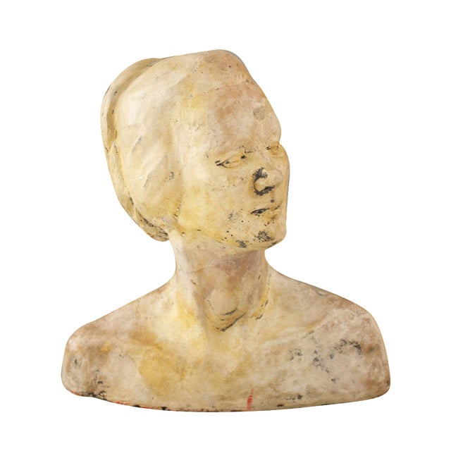 Vintage Handmade Bust of a Woman - Image 1 of 6