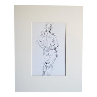 Mid Century Nude Drawing I by Paulina Jones Everitt