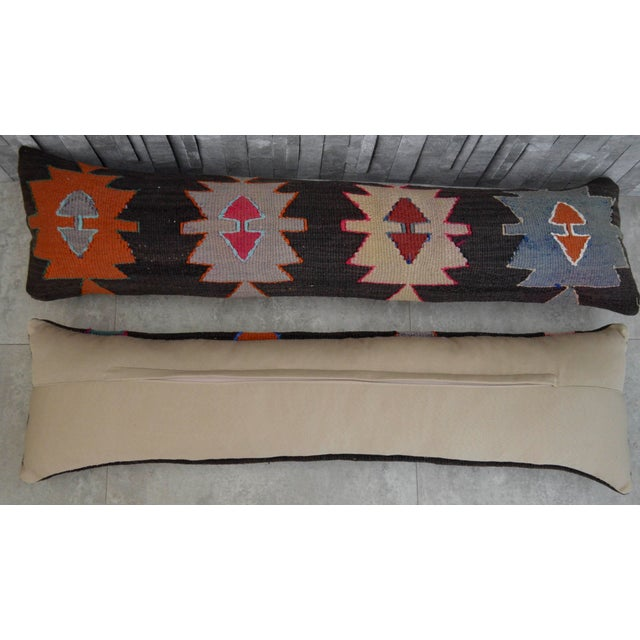 Turkish Kilim Lumbar Pillow Covers - Pair - Image 4 of 5